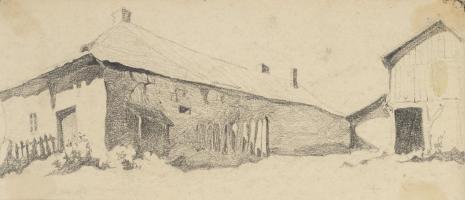 Leopold Buczkowski, Uliczki z Podkamienia (ziemia Krzemieniecka), z cyklu: Rysunki z Podola, lata 30-te XX wieku