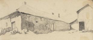 Uliczki z Podkamienia (ziemia Krzemieniecka), z cyklu: Rysunki z Podola, lata 30-te XX wieku