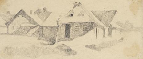 Leopold Buczkowski, Ziemia Krzemieniecka, z cyklu: Rysunki z Podola, lata 30-te XX wieku