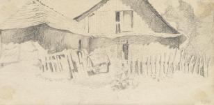 Ziemia Krzemieniecka, z cyklu: Rysunki z Podola, lata 30-te XX wieku