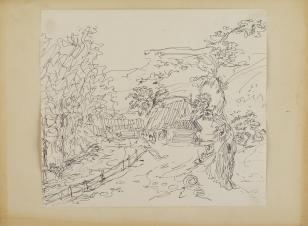Bez tytułu, z cyklu: Pejzaże zakopiańskie z lat 40. XX wieku