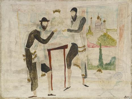 Leopold Buczkowski, Szojchet w Wiśniowcu, z cyklu: Obrazy o tematyce żydowskiej