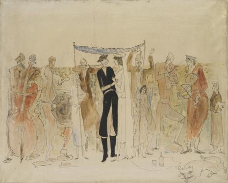 Leopold Buczkowski, Mazeł toff w Ostrogu, z cyklu: Obrazy o tematyce żydowskiej