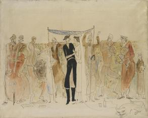 Mazeł toff w Ostrogu, z cyklu: Obrazy o tematyce żydowskiej