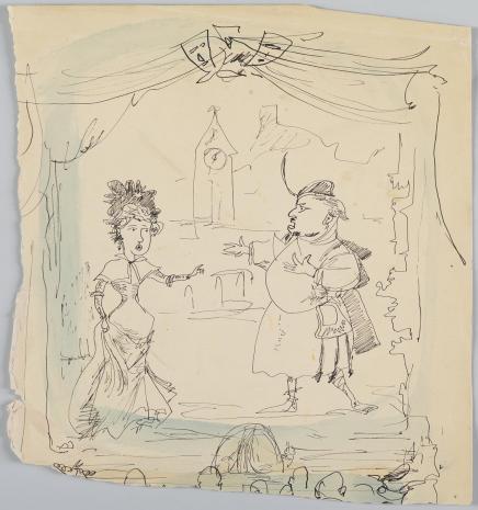 Leopold Buczkowski, Bez tytułu, z cyklu: Prace z motywami groteskowymi