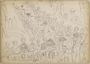 Bez tytułu (Mickiewicz w Paryżu), z cyklu: Prace z motywami groteskowymi