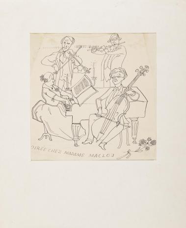 Leopold Buczkowski, Bez tytułu (Dirée chez Madame Macloj), z cyklu: Prace z motywami groteskowymi