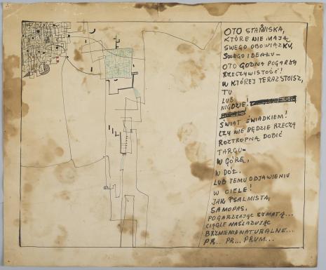 Leopold Buczkowski, Bez tytułu (Oto stanowiska...), z cyklu: Prace z motywami groteskowymi