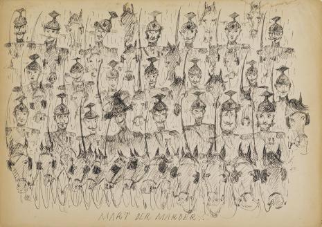 Leopold Buczkowski, Bez tytułu (Mart der Marder...), z cyklu: Prace z motywami groteskowymi