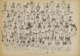 Bez tytułu (Mart der Marder...), z cyklu: Prace z motywami groteskowymi
