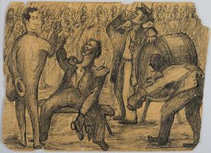 Bez tytułu, z cyklu: Prace z motywami groteskowymi