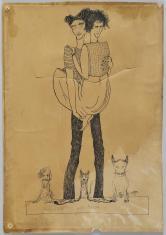 Bez tytułu (Paweł i Wirginia), z cyklu: Prace z motywami groteskowymi