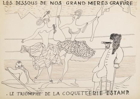 Leopold Buczkowski, Bez tytułu (Les dessous...), z cyklu: Prace z motywami groteskowymi