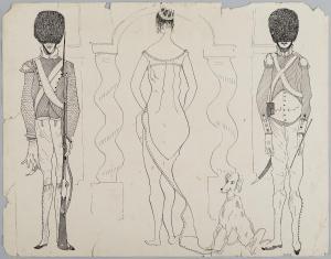 Bez tytułu (Studium historyczne), z cyklu: Prace z motywami groteskowymi