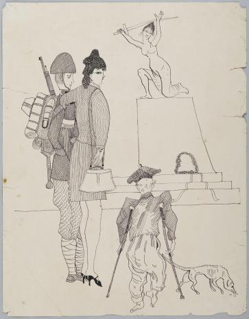 Leopold Buczkowski, Bez tytułu (Studium historyczne), z cyklu: Prace z motywami groteskowymi