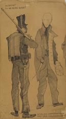 Bez tytułu (Do broni!), z cyklu: Prace z motywami groteskowymi