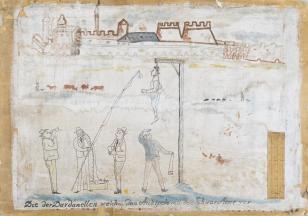 Bez tytułu (Die der Dardanellen...), z cyklu: Prace z motywami groteskowymi