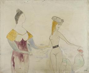 Demeter i Eurydyka, z cyklu: Prace z motywami groteskowymi