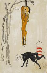 Droga do lasu..., z cyklu: Prace z motywami groteskowymi