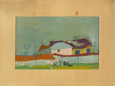 Leopold Buczkowski, Bez tytułu (Pejzaż z Węgier), z cyklu: Pejzaże