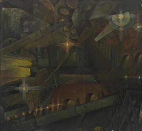 Konstanty Mackiewicz, Wnętrze fabryki - sen maszynisty