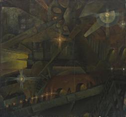 Wnętrze fabryki - sen maszynisty