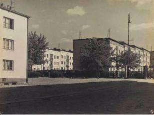 """Osiedle """"Koło"""" dla Warszawskiej Spółdzielni Mieszkaniowej na Woli w Warszawie, lata 30. XX wieku"""