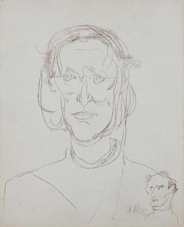 Jankiel Adler, Portret Heleny Syrkusowej z autoportretem autora