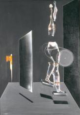 Une statue de marche [Kroczący posąg]