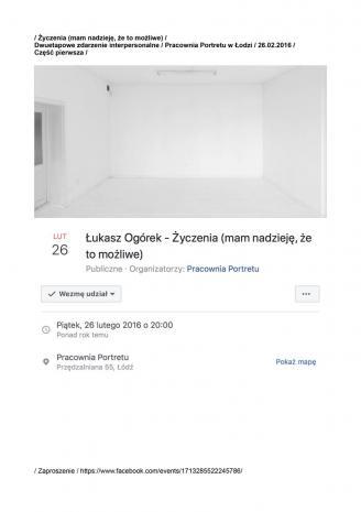 Łukasz Ogórek, Życzenia (mam nadzieję, że to możliwe)