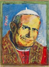 Papież z migającymi oczami (towarzyszący występom Morris Generativ)