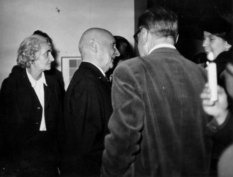 Od lewej red. Ewa Garztecka (Trybuna Ludu), Henryk Stażewski