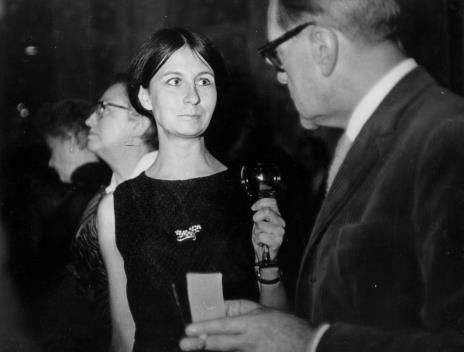 Od lewej Teresa Tyszkiewicz, Erna Rosenstein, Urszula Czartoryska (Dział Fotografii i Technik Wizualnych), Kajetan Sosnowski