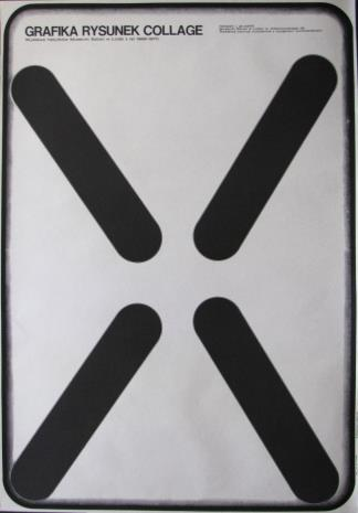[Plakat] Grafika - rysunek - collage. Wystawa nabytków Muzeum Sztuki w Łodzi z lat 1968 – 1970 […]