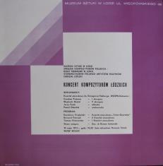 [Plakat] Koncert kompozytorów łódzkich […]