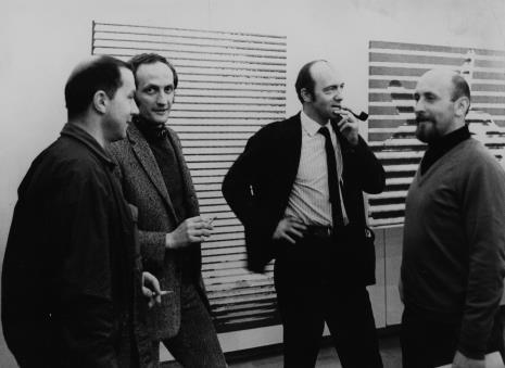 Od lewej x, inż. Jakub Wujek, Andrzej Pukaczewski, Andrzej Szonert