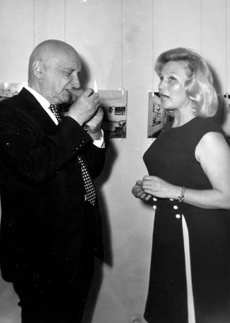 Henryk Stażewski i Anna Łabęcka (Dział Sztuki Nowoczesnej)