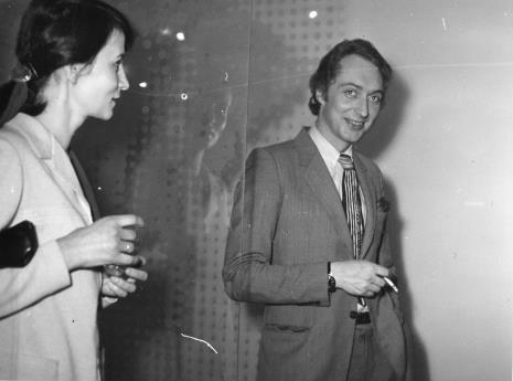 Urszula Czartoryska (Dział Fotografii i Technik Wizualnych) i Alain Jacquet