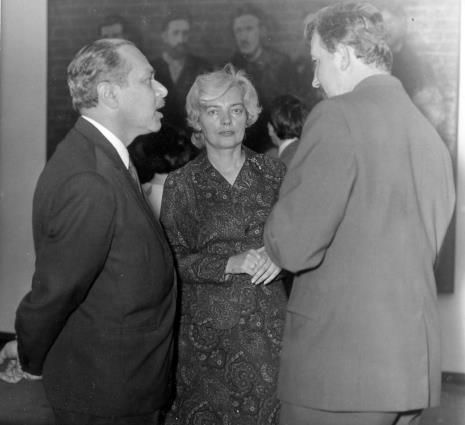 Ryszard Brudzyński (wicedyrektor ms), Halina Zawilska (Dział Sztuki Polskiej), Mieczysław Pracuta (Miejski Konserwator Zabytków)