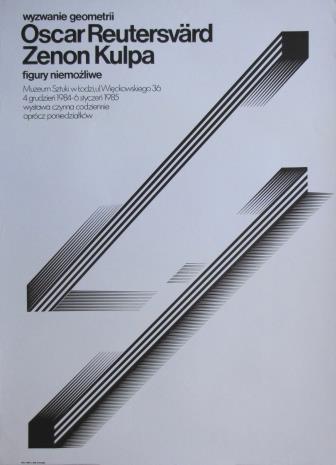 [Plakat] wyzwanie geometrii. Oscar Reutersvärd, Zenon Kulpa. figury niemożliwe  […]