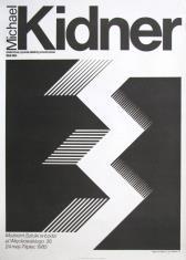 [Plakat]  Michael Kinder. Malarstwo, rysunek, obiekty przestrzenne 1958 – 1984 [...]