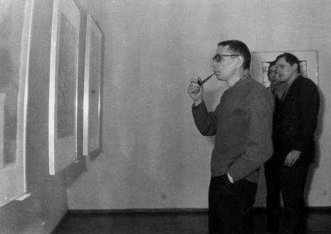 Z fajką malarz Stanisław Fijałkowski