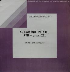 [Plakat]  Malarstwo polskie XVII - początek XX wieku. Pokaz dydaktyczny […]