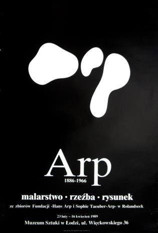 [Plakat] Arp 1886 - 1966. malarstwo, rzeźba, rysunek […]