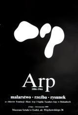 [Plakat] Arp 1886 - 1966. Malarstwo, rzeźba, rysunek ze zbiorów Fundacji Hans Arp i Sophie Teauber-Arp w Rolandseck […]