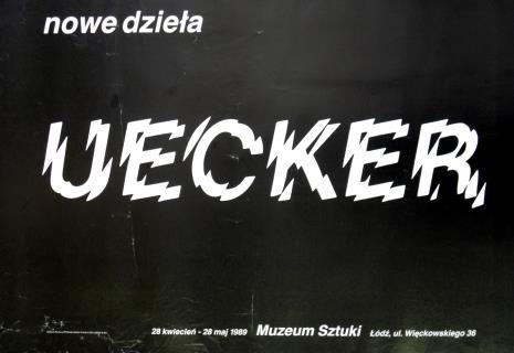 [Plakat]. nowe dzieła. Uecker […]