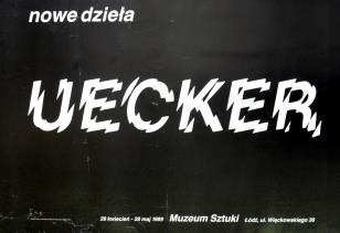 [Plakat]  Günther Uecker. Nowe dzieła […]