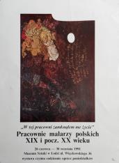"""[Plakat] W tej pracowni zamknęłam me życie"""". Pracownie malarzy polskich XIX i początku XX wieku […]"""