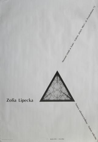 [Plakat] Zofia Lipecka. Natura odzwierciedlona - Nature réfléchie […]