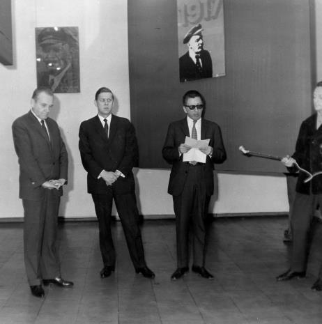 Od lewej Edward Kaźmierczak, x, dyr. Ryszard Stanisławski, red. Jerzy Urbankiewicz